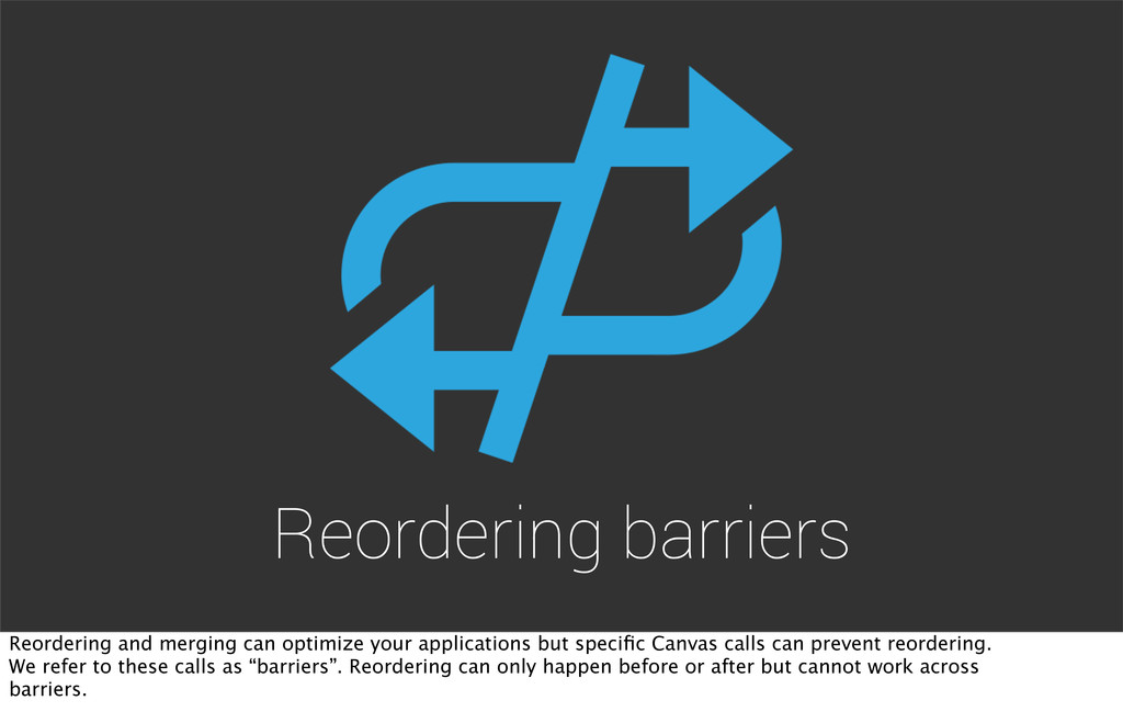 Reordering barriers Reordering and merging can ...