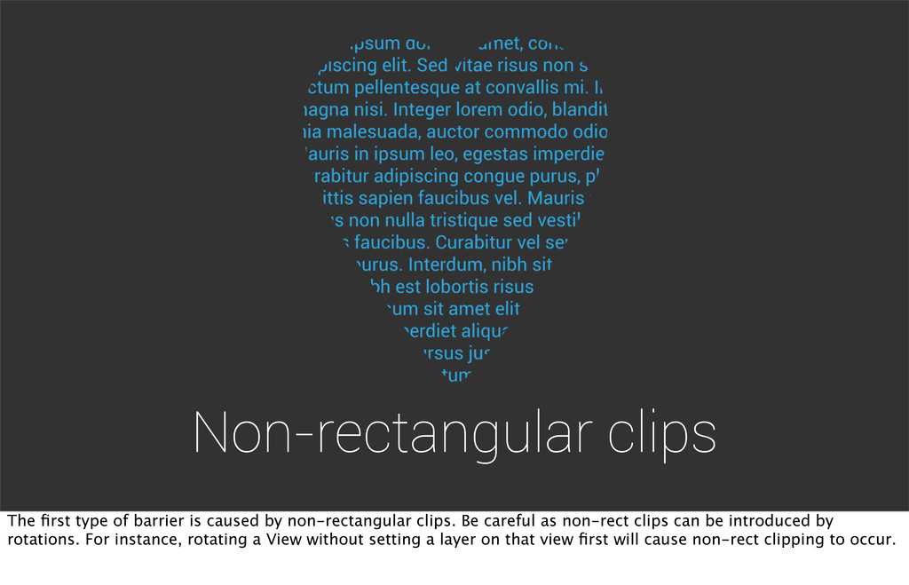 Non-rectangular clips The first type of barrier ...