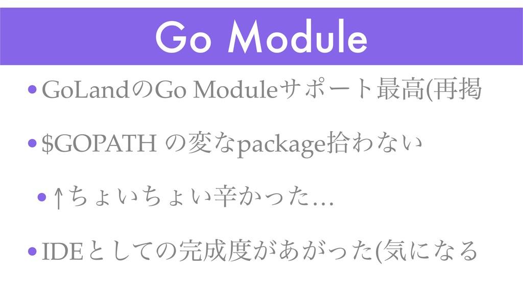 Go Module •GoLandͷGo Moduleαϙʔτ࠷ߴ(࠶ܝ •$GOPATH ͷ...