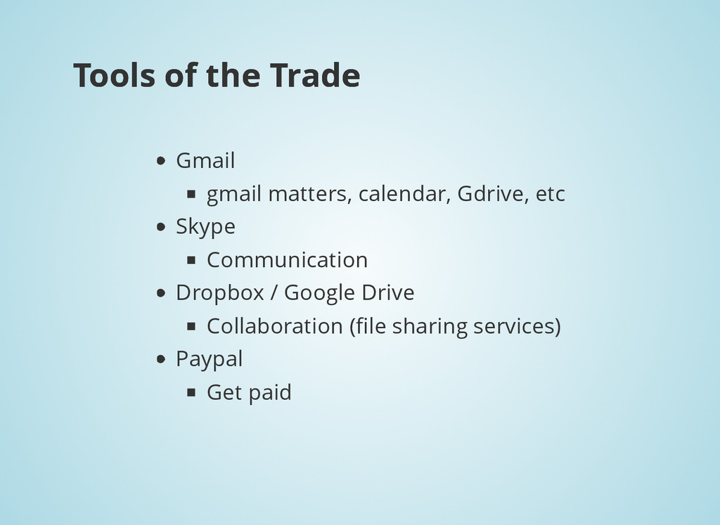 Tools of the Trade Tools of the Trade Gmail gm...