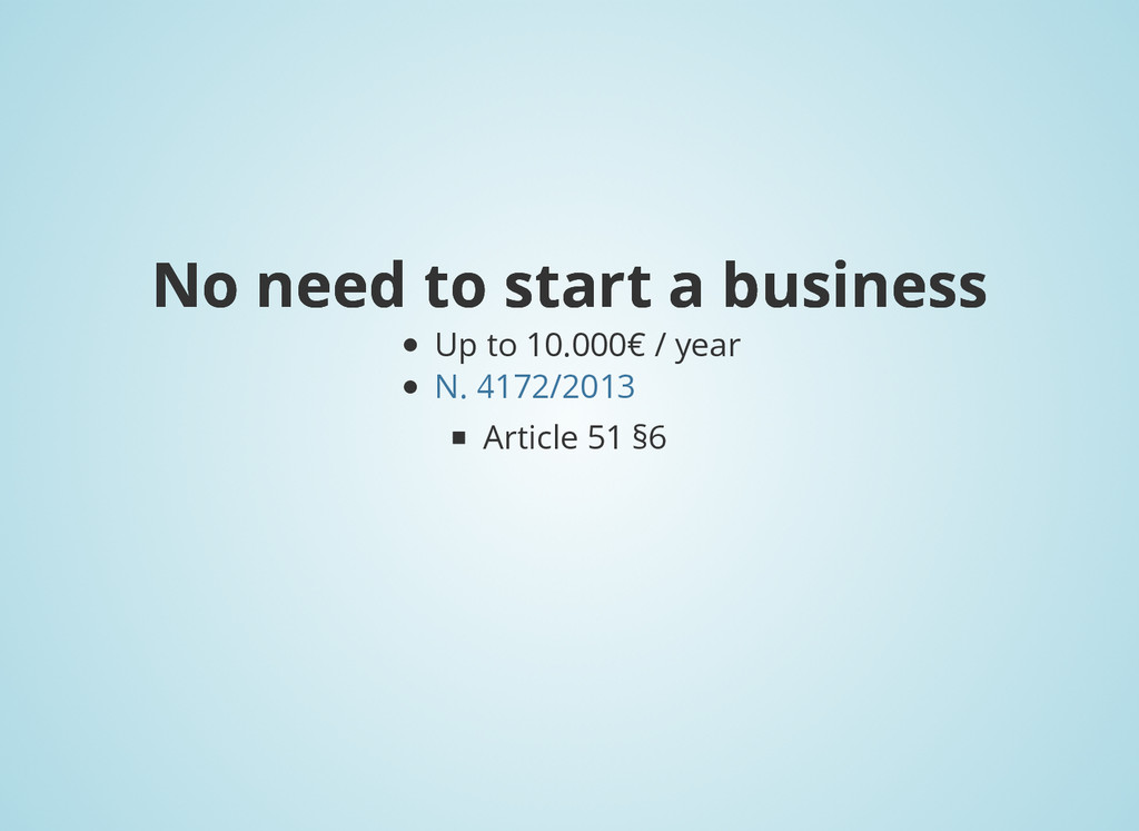 No need to start a business No need to start a ...