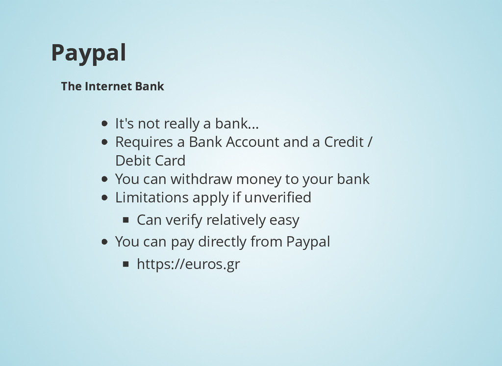 Paypal Paypal The Internet Bank The Internet Ba...