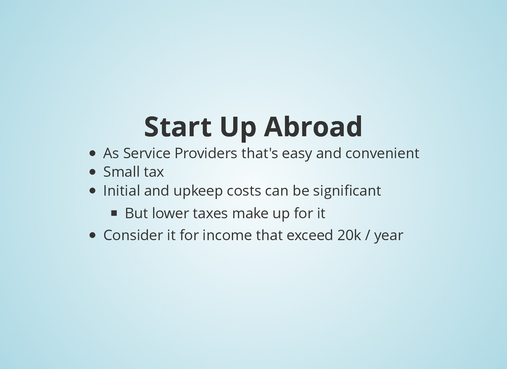 Start Up Abroad Start Up Abroad As Service Prov...