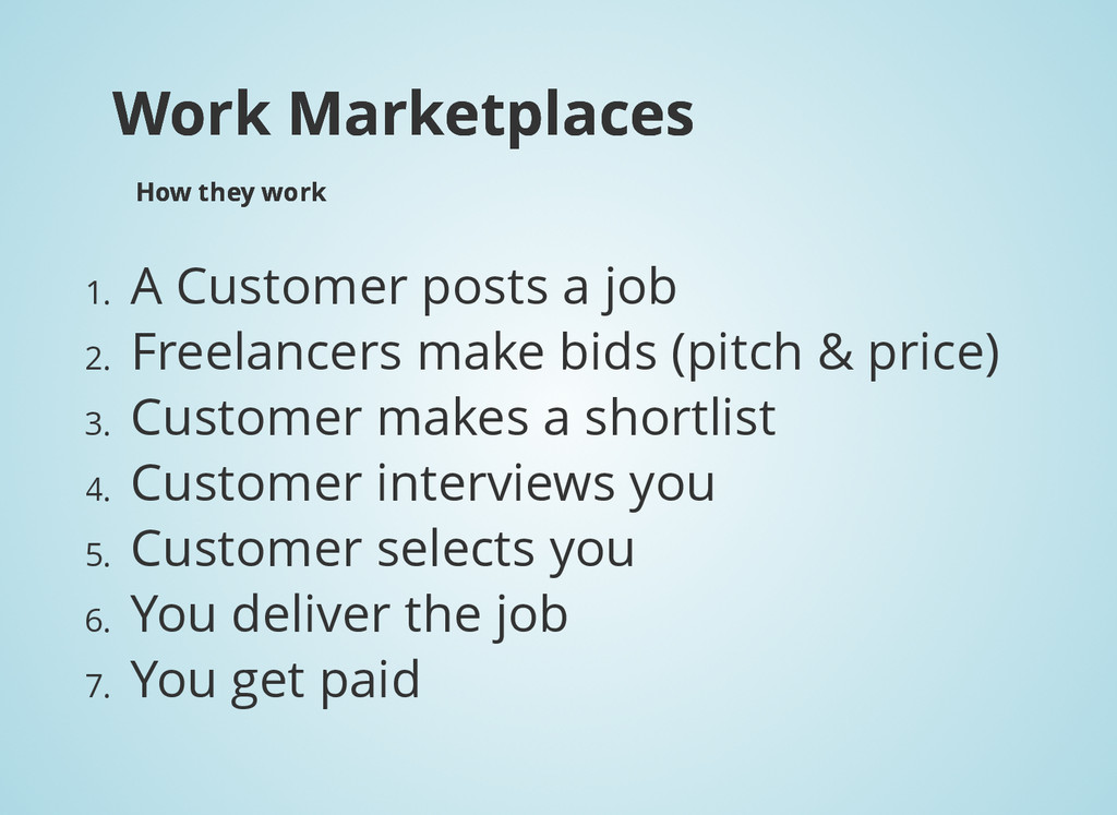 Work Marketplaces Work Marketplaces How they wo...