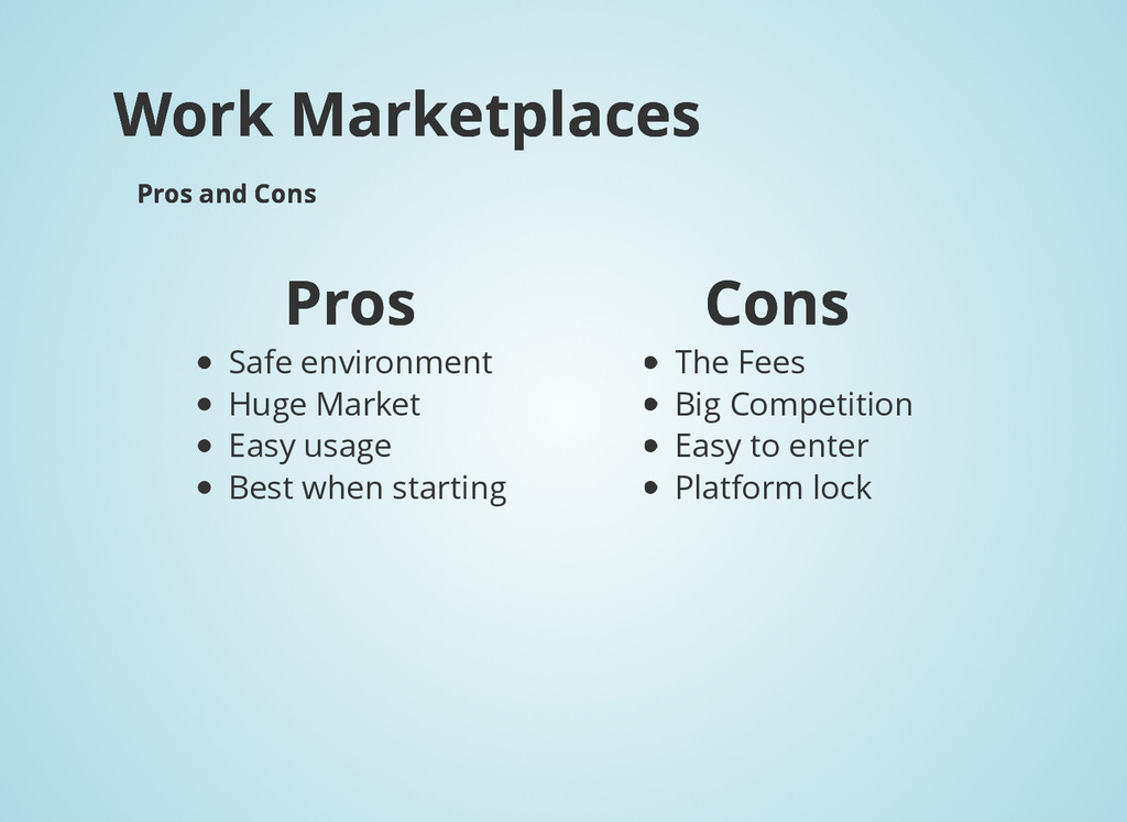 Work Marketplaces Work Marketplaces Pros and Co...
