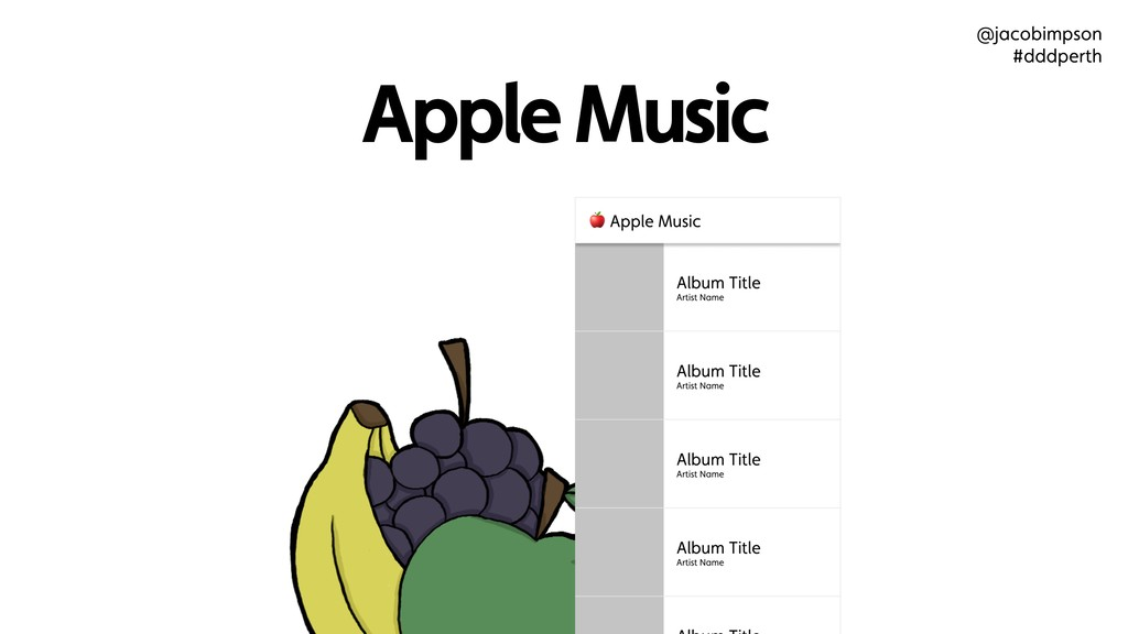 Apple Music @jacobimpson #dddperth