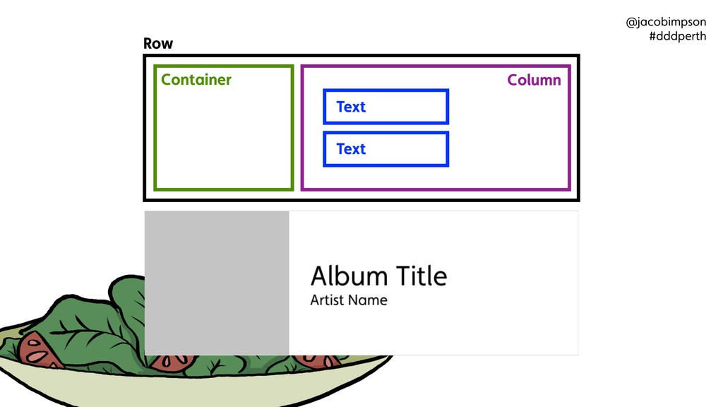 Row Container Column Text Text @jacobimpson #dd...