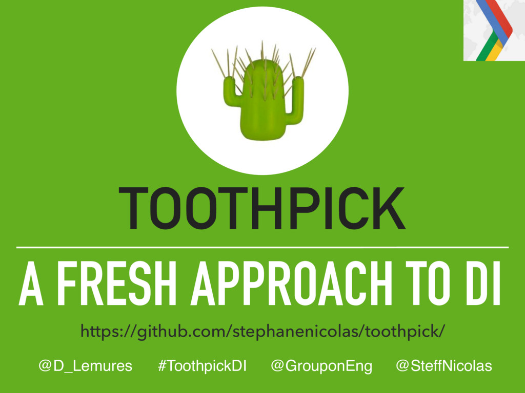 A FRESH APPROACH TO DI TOOTHPICK https://github...