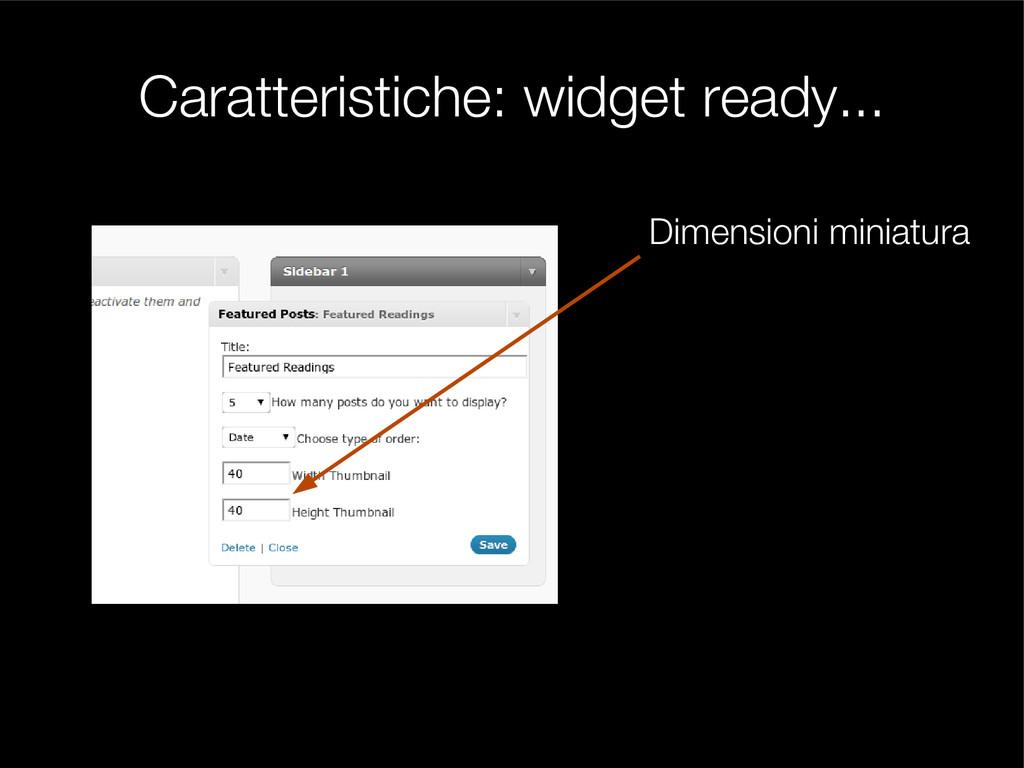 Caratteristiche: widget ready... Dimensioni min...