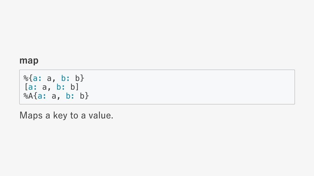 map %{a: a, b: b} [a: a, b: b] %A{a: a, b: b} M...