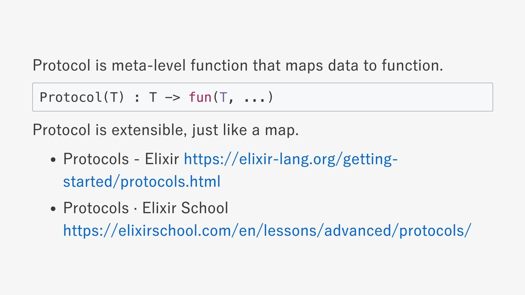 Protocol is meta‑level function that maps data ...