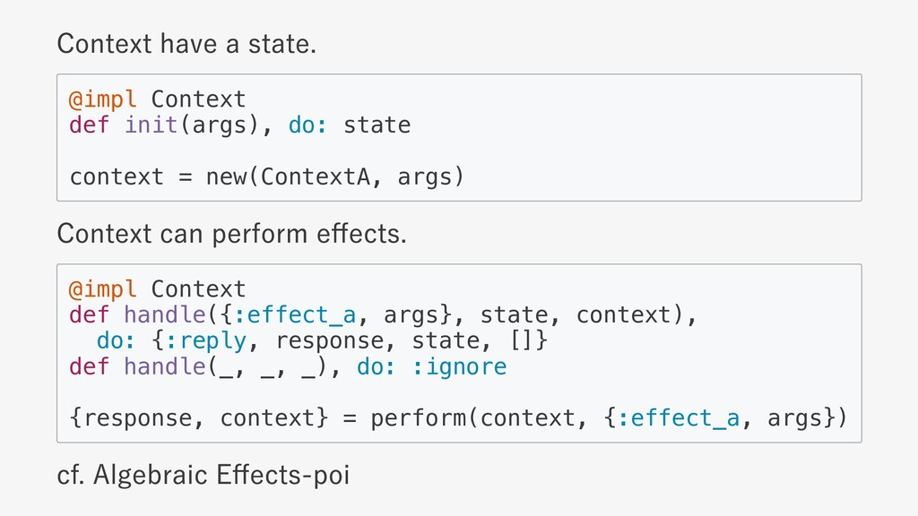 Context have a state. @impl Context def init(ar...