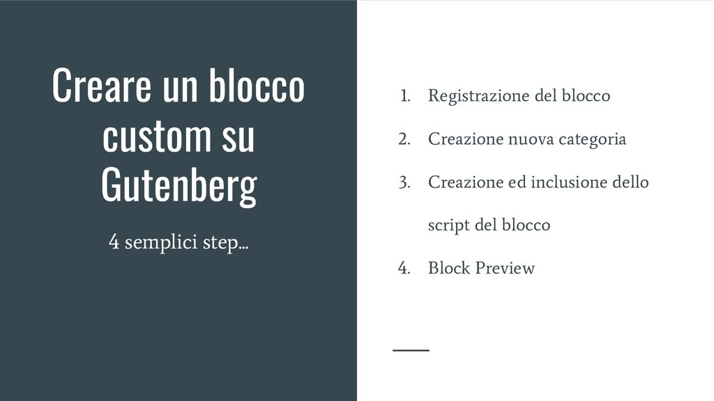 Creare un blocco custom su Gutenberg 4 semplici...