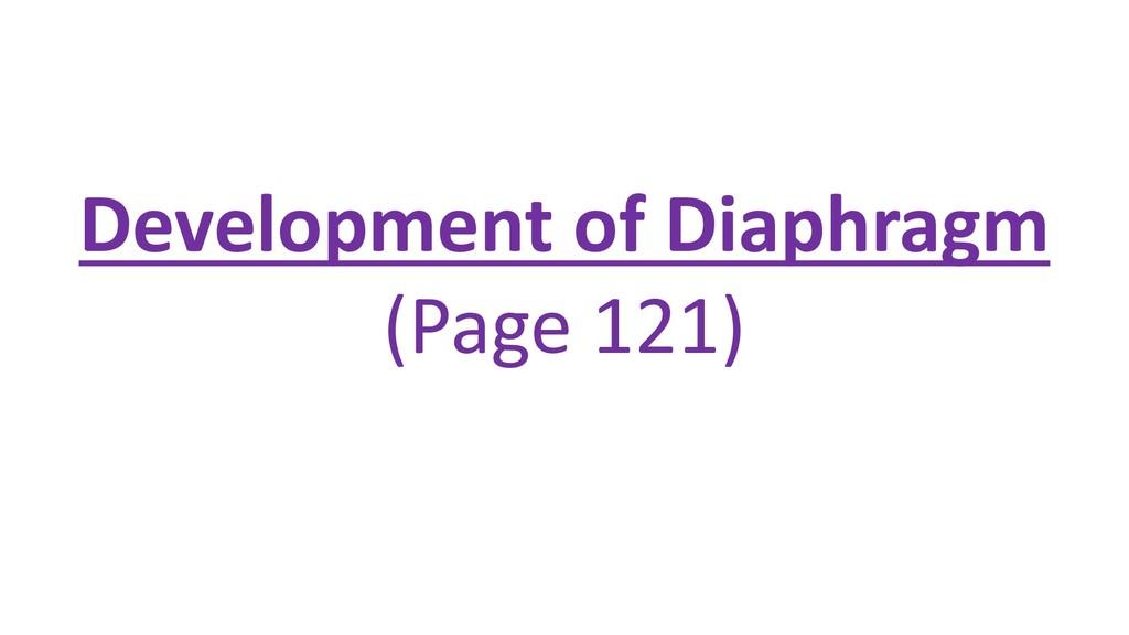 Development of Diaphragm (Page 121)