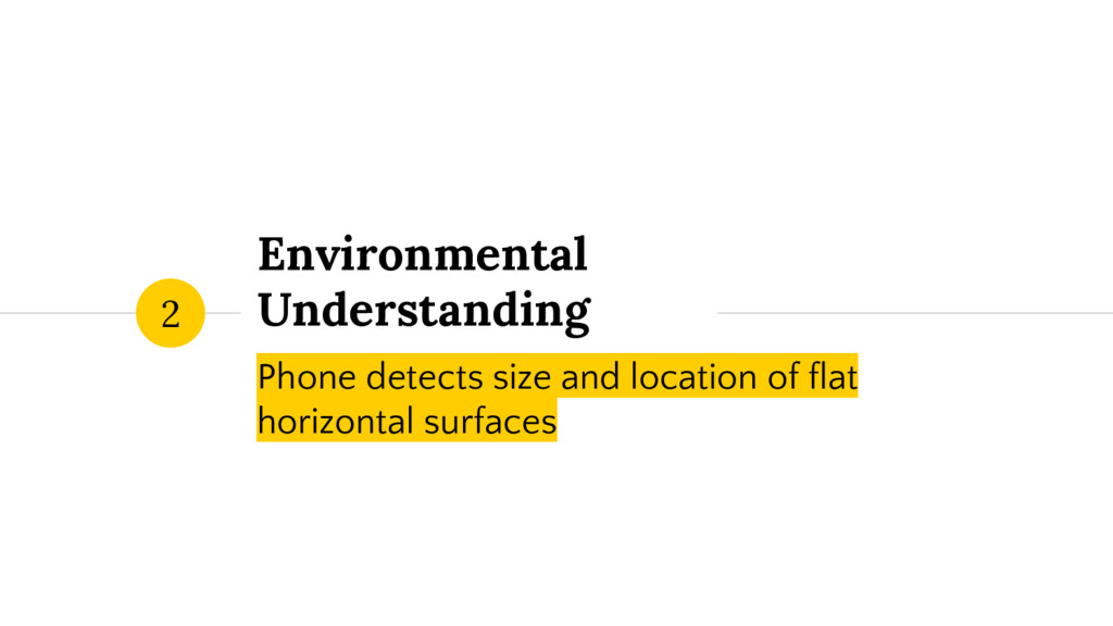 Environmental Understanding Phone detects size ...