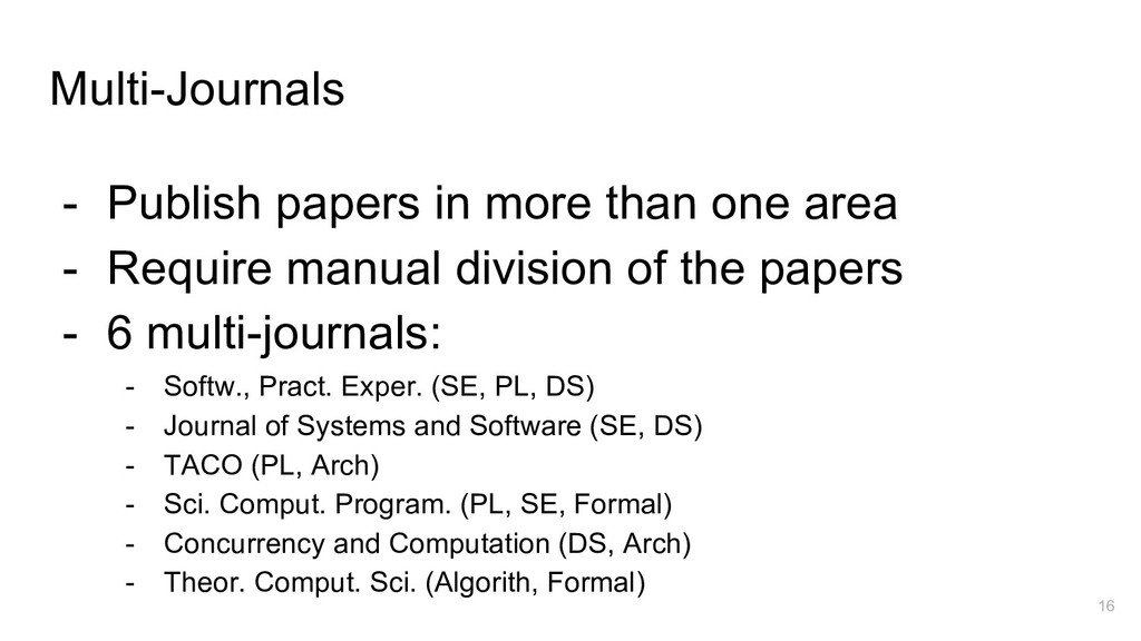 Multi-Journals - Publish papers in more than on...