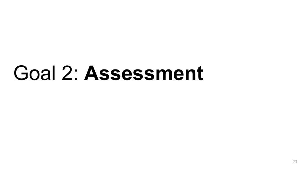 Goal 2: Assessment 23