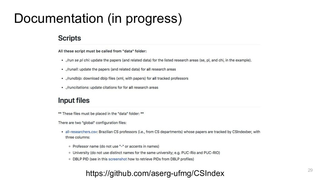 Documentation (in progress) https://github.com/...