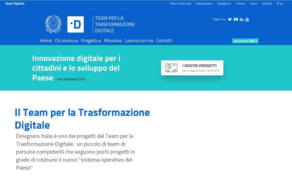 Il Team per la Trasformazione Digitale Designer...