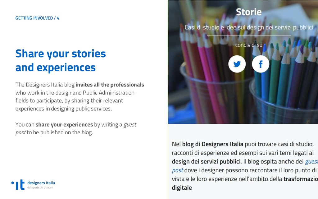 GETTING INVOLVED / 4 Share your stories and exp...