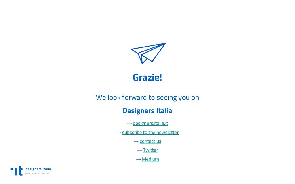 Grazie! We look forward to seeing you on Design...