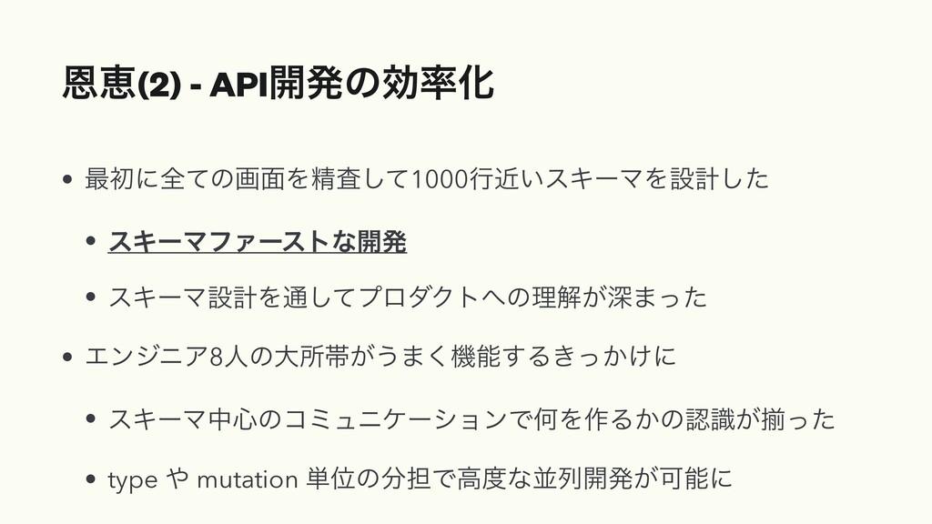 Ըܙ(2) - API։ൃͷޮԽ • ࠷ॳʹશͯͷը໘Λਫ਼ࠪͯ͠1000ߦ͍ۙεΩʔϚΛઃܭ...