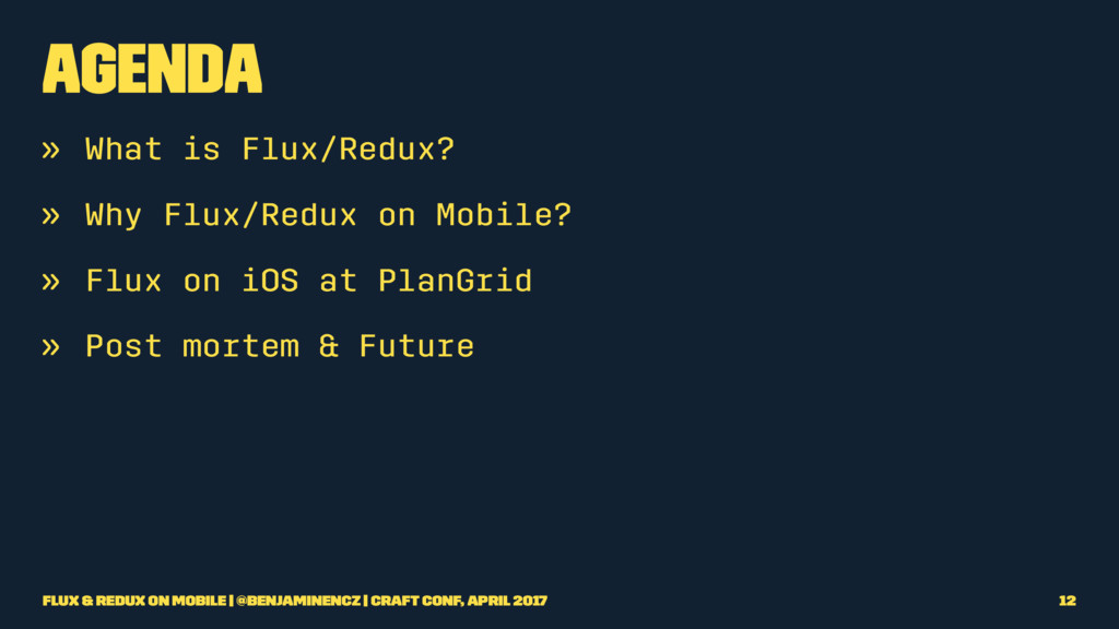 Agenda » What is Flux/Redux? » Why Flux/Redux o...