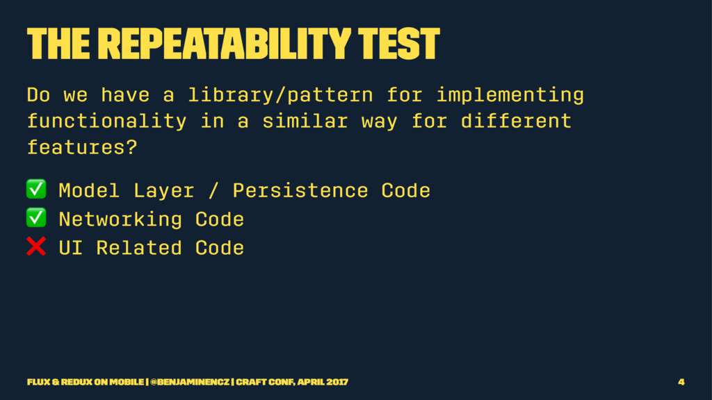 The Repeatability Test Do we have a library/pat...