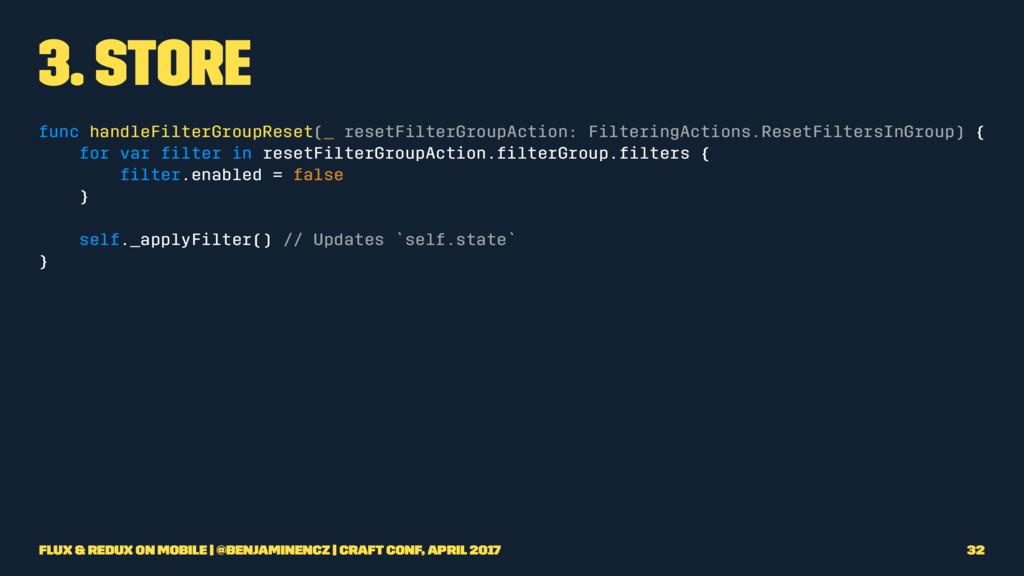 3. Store func handleFilterGroupReset(_ resetFil...