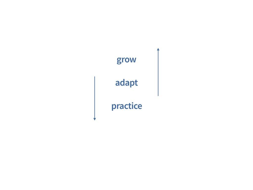 grow adapt practice