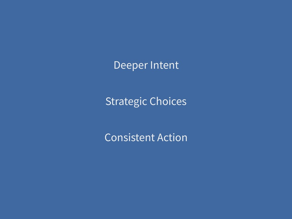 Deeper Intent Strategic Choices Consistent Acti...