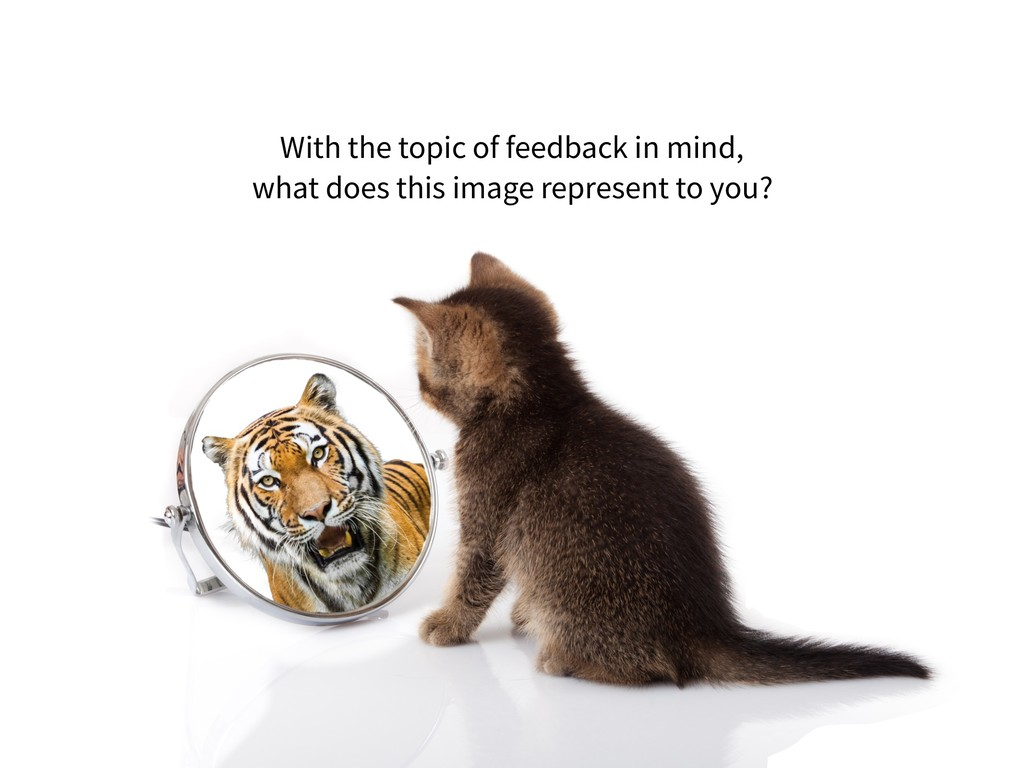 With the topic of feedback in mind,  what does...