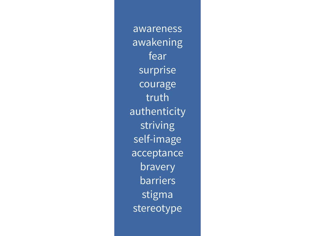 awareness awakening fear surprise courage truth...