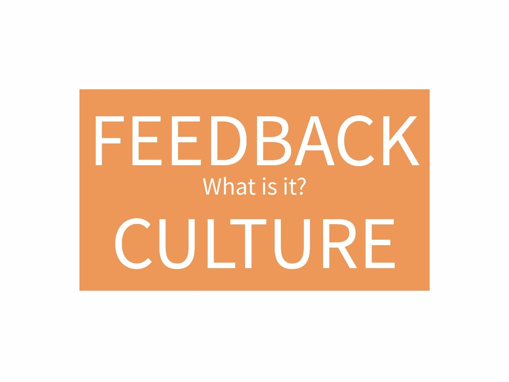 FEEDBACK CULTURE What is it?