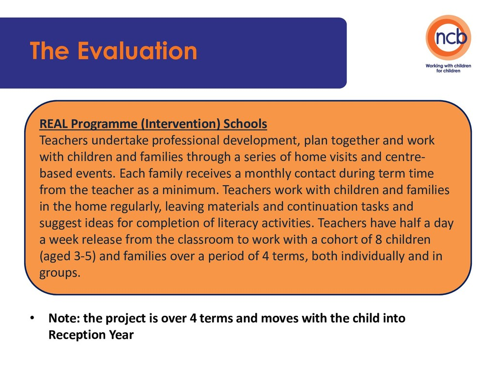 The Evaluation • Note: the project is over 4 te...