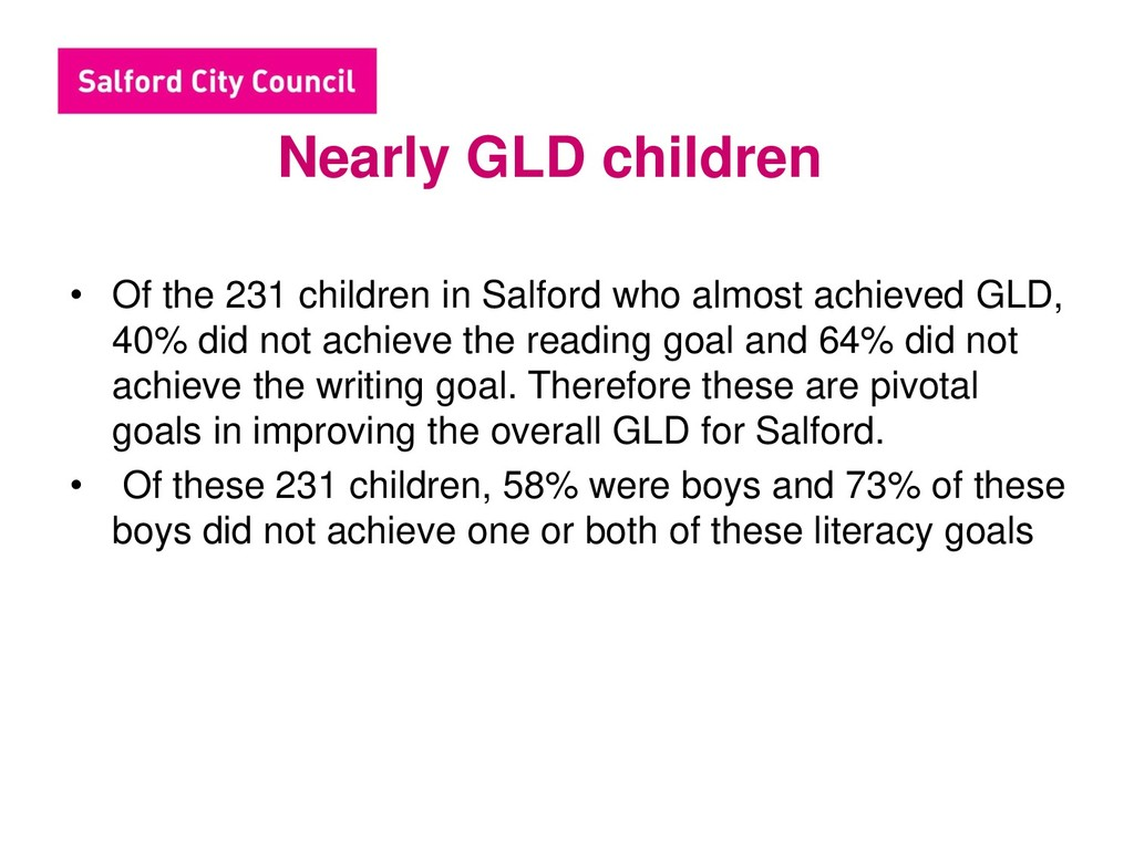 Nearly GLD children • Of the 231 children in Sa...