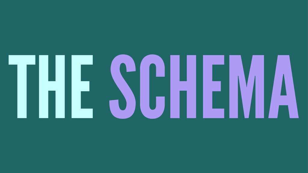 THE SCHEMA