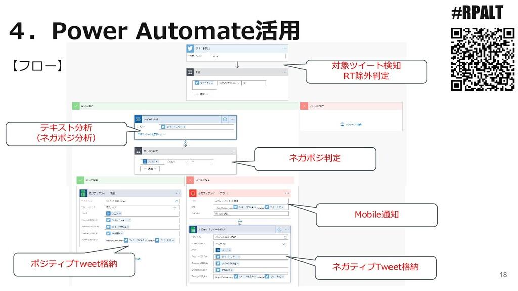 18 #RPALT 【フロー】 4.Power Automate活用 対象ツイート検知 RT除...