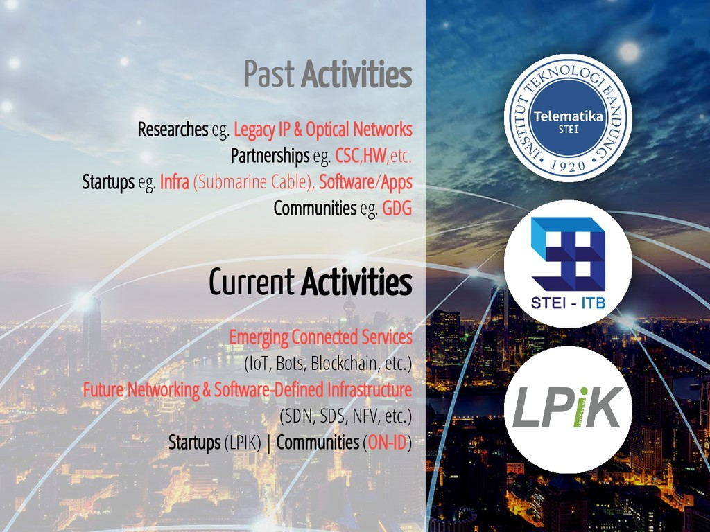 3 / 65 Past Activities Researches eg. Legacy IP...