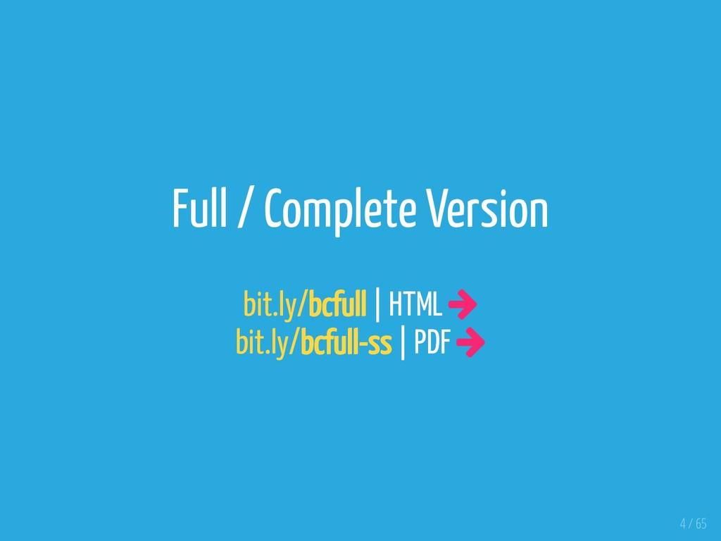 Full / Complete Version bit.ly/bcfull | HTML  ...