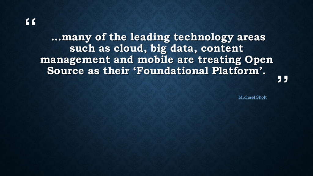""""""" """" …many of the leading technology areas such ..."""