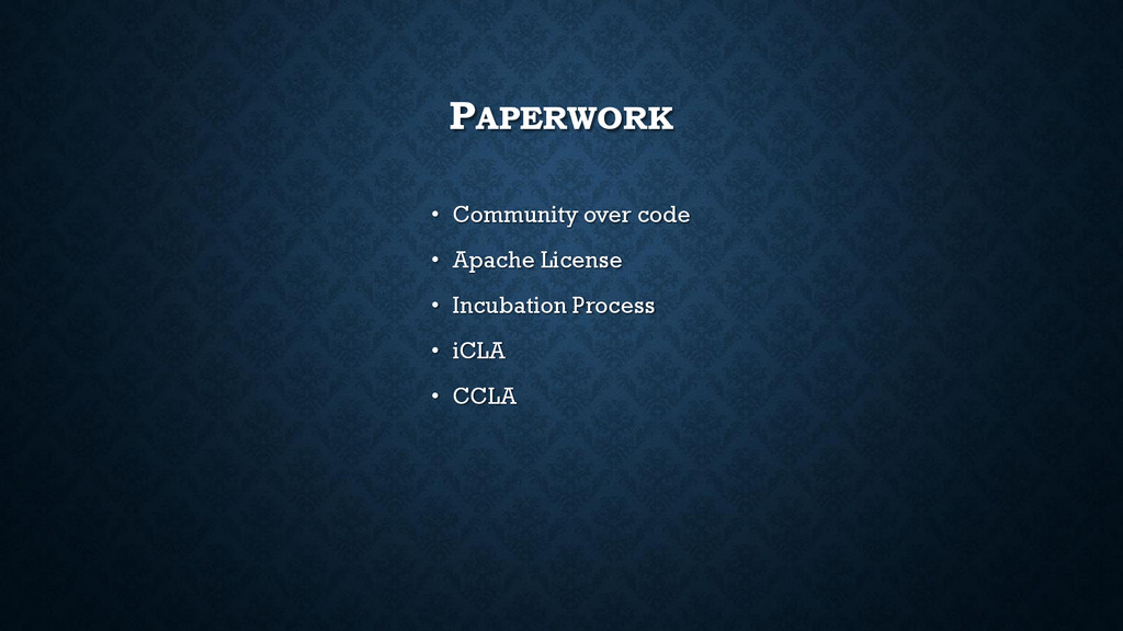 PAPERWORK • Community over code • Apache Licens...
