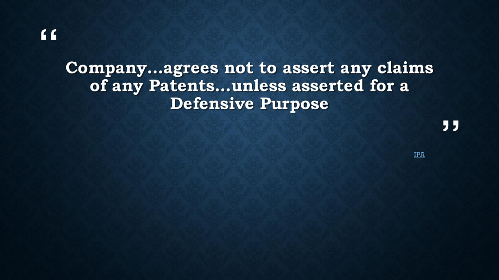 """"""" """" Company…agrees not to assert any claims of ..."""