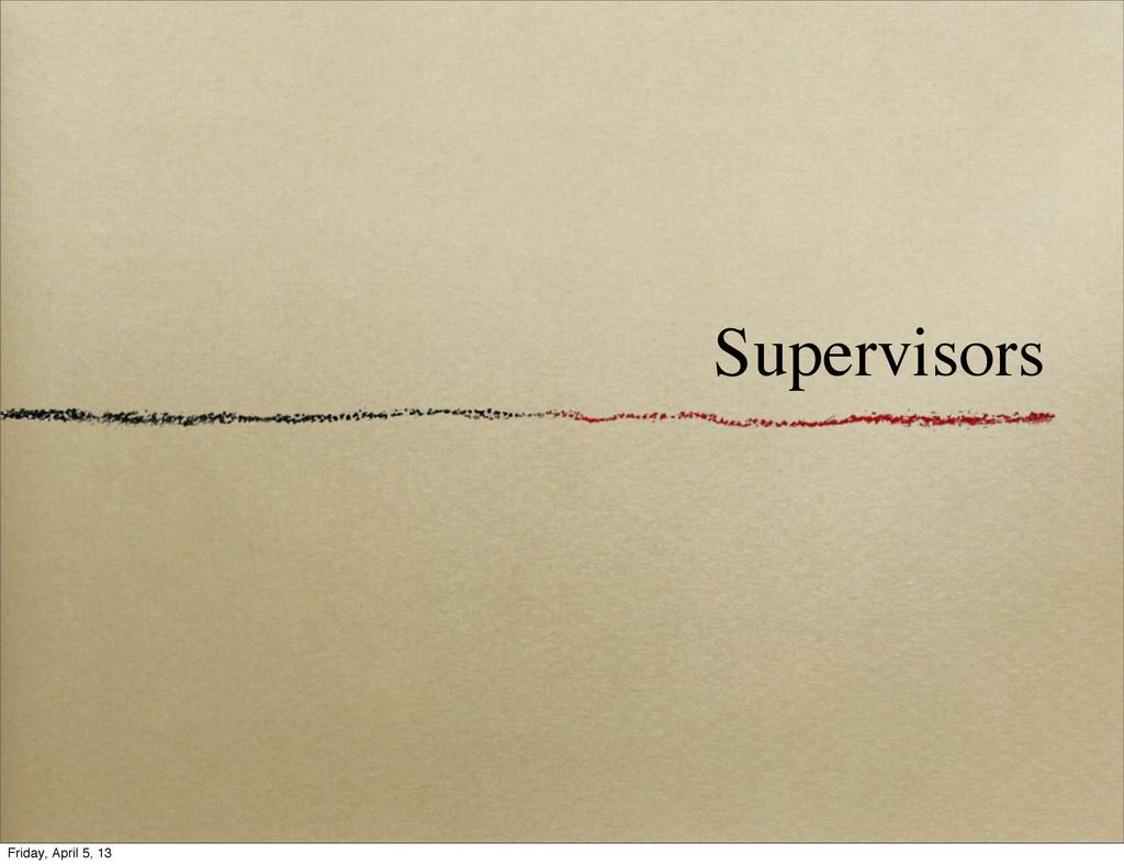 Supervisors Friday, April 5, 13