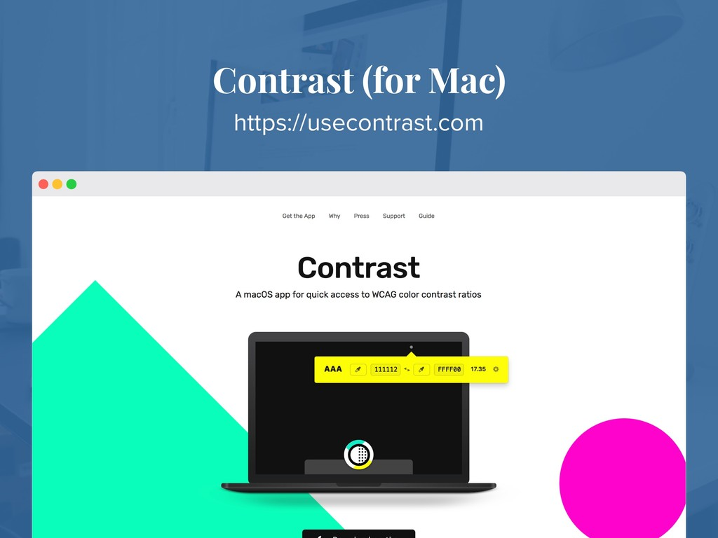 Contrast (for Mac) https://usecontrast.com
