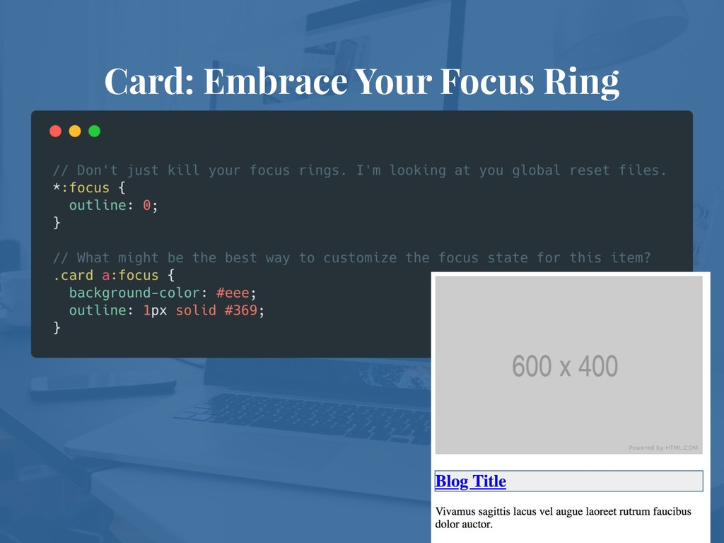 Card: Embrace Your Focus Ring