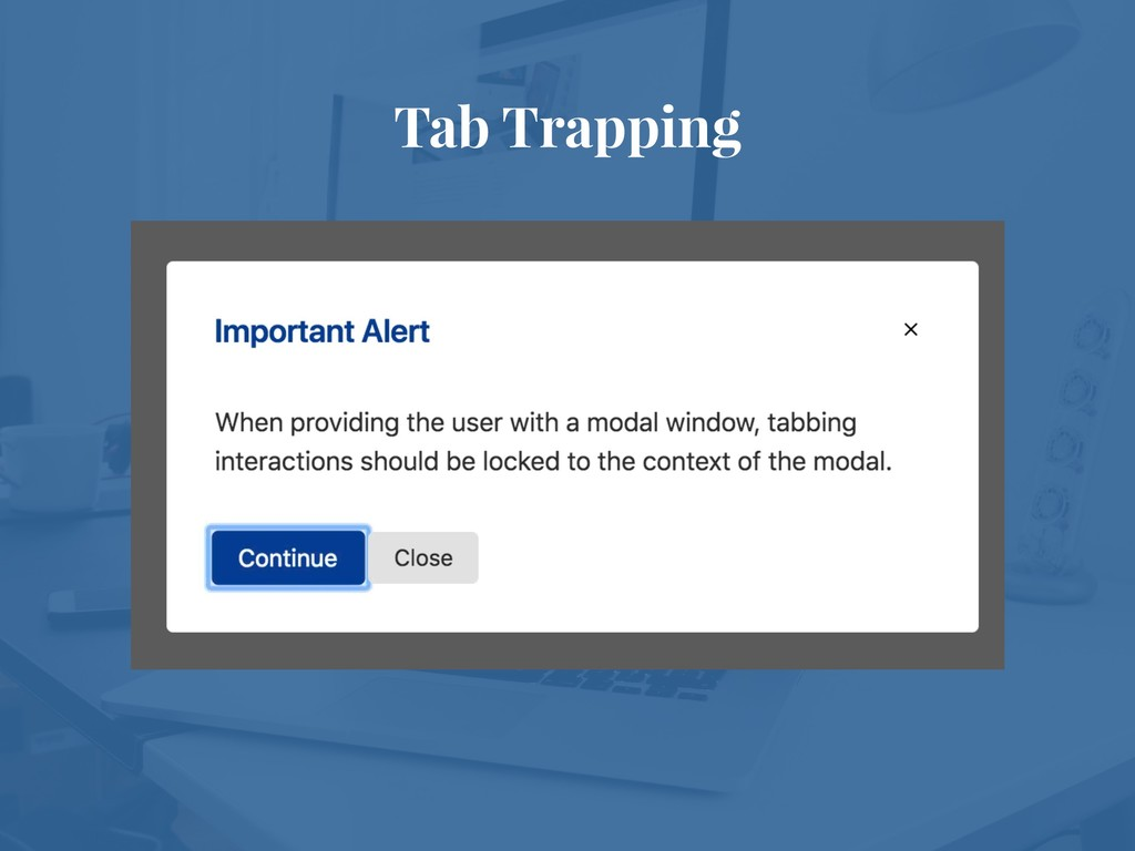 Tab Trapping
