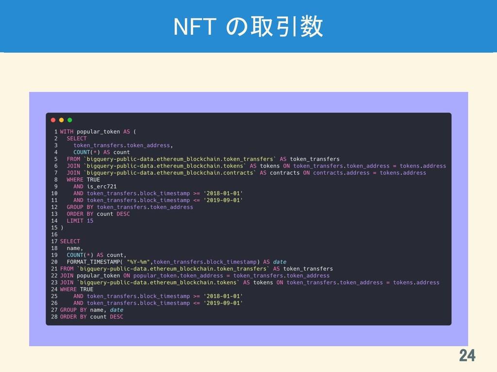 NFT の取引数 24