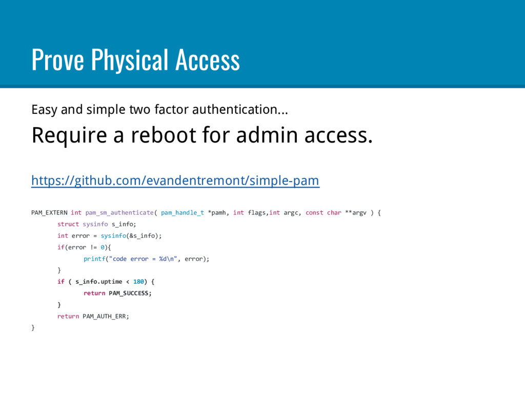 Prove Physical Access Easy and simple two facto...
