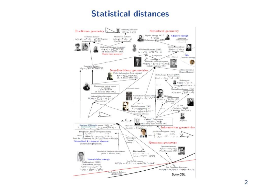 Statistical distances 2